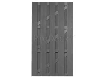 Deur • composiet • grijs • grijs gecoate aluminium dwarsbalken • 100×180 cm