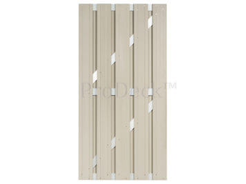 Deur • composiet • ivoorwit • aluminium dwarsbalken • 90×180 cm OP=OP