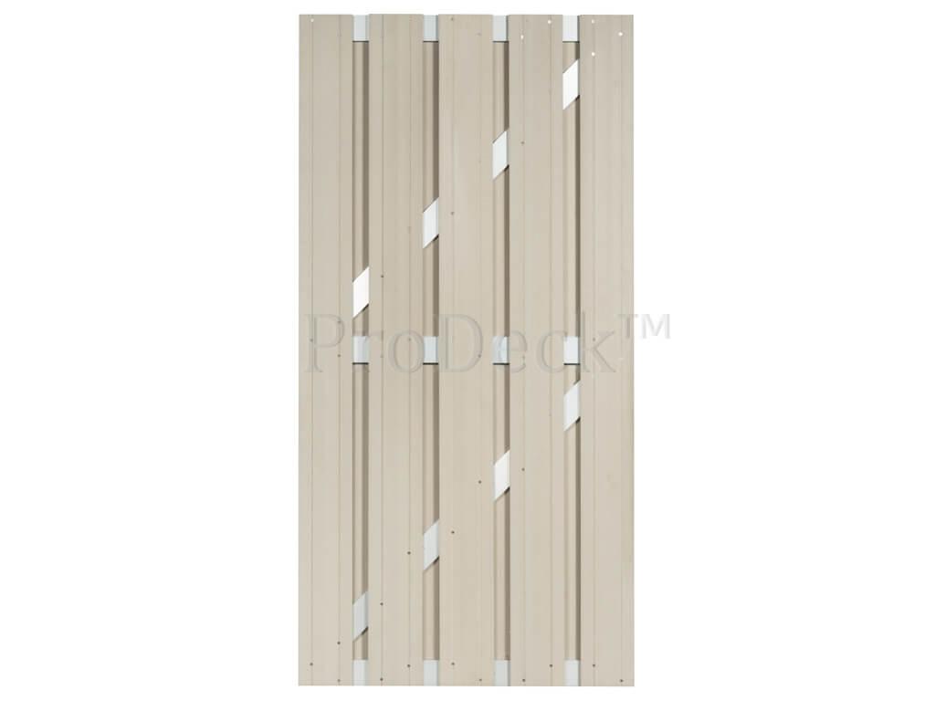 Composiet deur ivoorwit aluminium