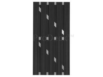 Deur • composiet • maxi-deur • antraciet • aluminium dwarsbalken • 90×180 cm