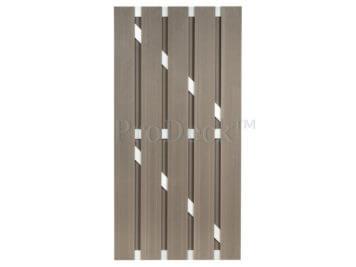 Deur • composiet • vergrijsd bruin • aluminium dwarsbalken • 90×180 cm