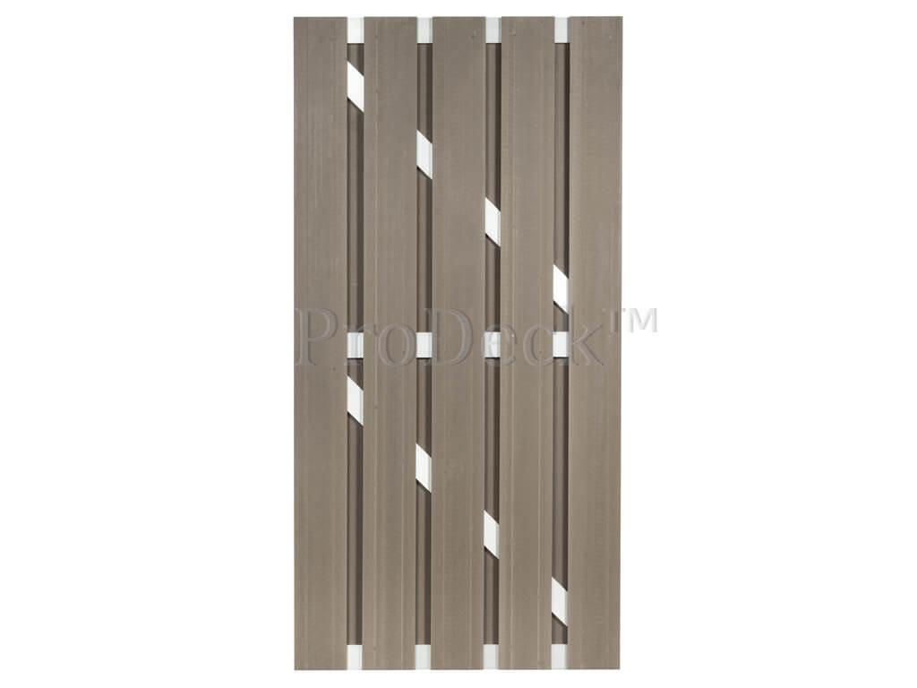 Composiet deur vergrijsd bruin aluminium
