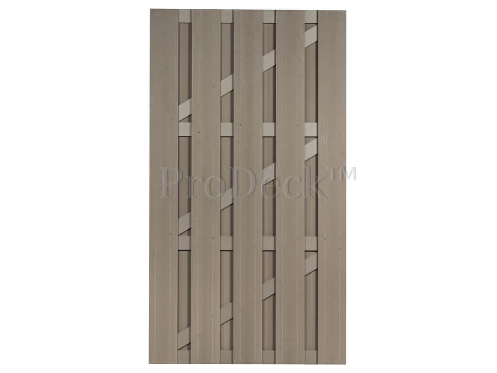 Composiet deur vergrijsd bruin vergrijsd bruin 100x180
