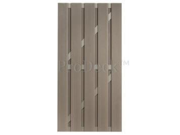 Deur • composiet • vergrijsd bruin • vergrijsd bruin gecoate aluminium dwarsbalken • 90×180 cm