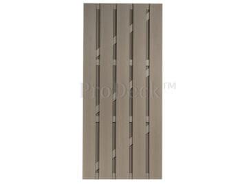 Deur • composiet • vergrijsd bruin • vergrijsd bruin gecoate aluminium dwarsbalken • 90×200 cm
