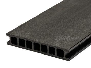 Duofuse • vlonderplank • holkamer • composiet • graphite black • egaal