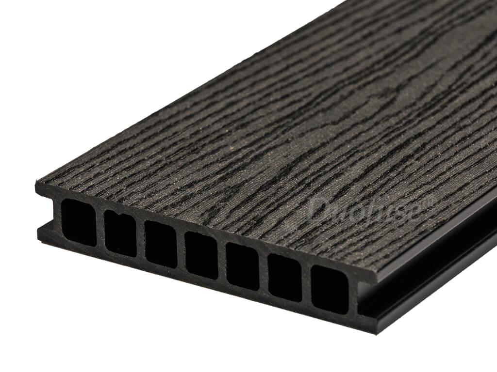 Duofuse holkamer graphite black houtnerf