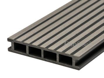 Duofuse • vlonderplank • holkamer • composiet • stone grey • 400×16,2×2,8 cm • breedribbel