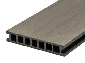 Duofuse • vlonderplank • holkamer • composiet • stone grey • 400×16,2×2,8 cm • egaal