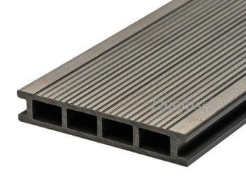 Duofuse • vlonderplank • holkamer • composiet • stone grey • 400×16,2×2,8 cm • fijnribbel