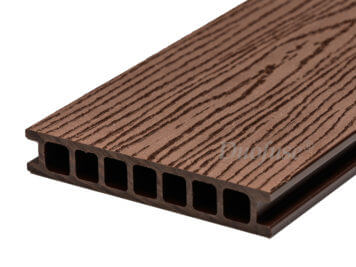 Duofuse • vlonderplank • holkamer • composiet • tropical brown • 400×16,2×2,8 cm • houtnerf