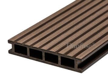 Duofuse • vlonderplank • holkamer • composiet • wenge brown • 400×16,2×2,8 cm • breedribbel
