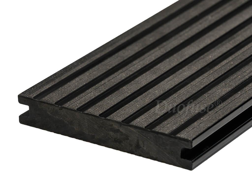 Duofuse massief graphite black breedribbel