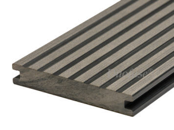 Duofuse • vlonderplank • massief • composiet • stone grey • 400×14,2×2,3 cm • breedribbel