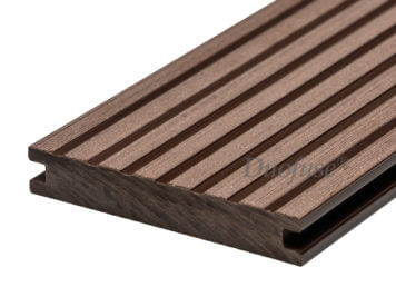 Duofuse • vlonderplank • massief • composiet • tropical brown • 400×14,2×2,3 cm • breedribbel