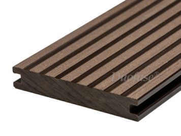Duofuse • vlonderplank • massief • composiet • wenge brown • 400×14,2×2,3 cm • breedribbel