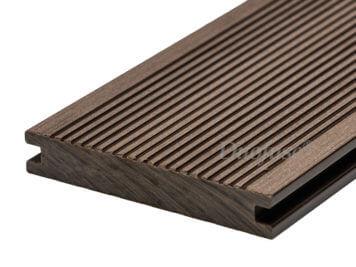 Duofuse • vlonderplank • holkamer • composiet • wenge brown • 400×16,2×2,8 cm • fijnribbel