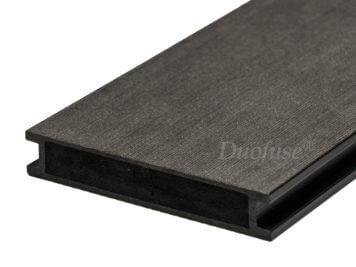 Duofuse • vlonderplank • volkamer • composiet • graphite black • 400×16,2×2,8 cm • egaal