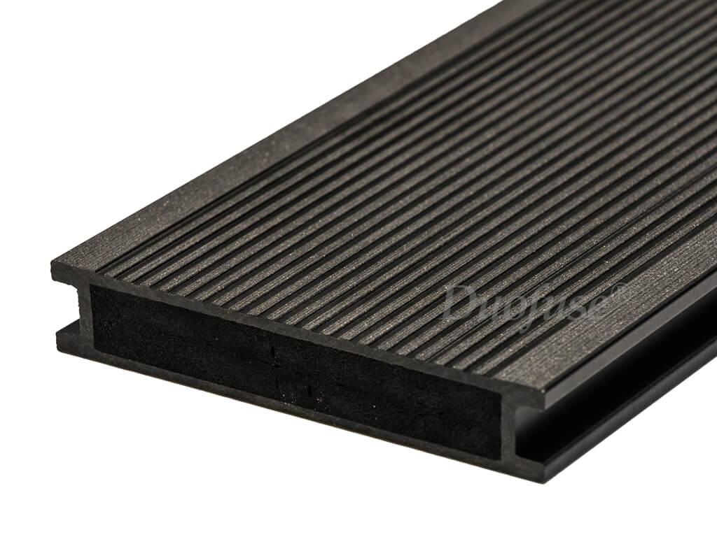 Duofuse volkamer graphite black fijnribbel