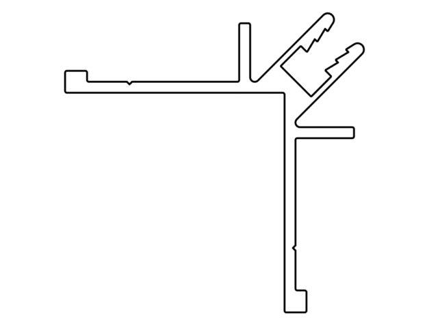 Gevelit • buitenhoekprofiel • geanodiseerd aluminium • 4 meter
