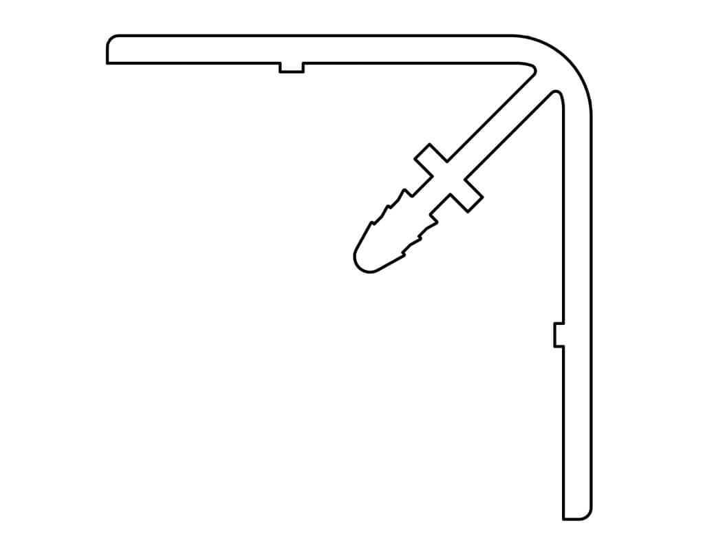 Gevelit PVC buitenhoekprofiel