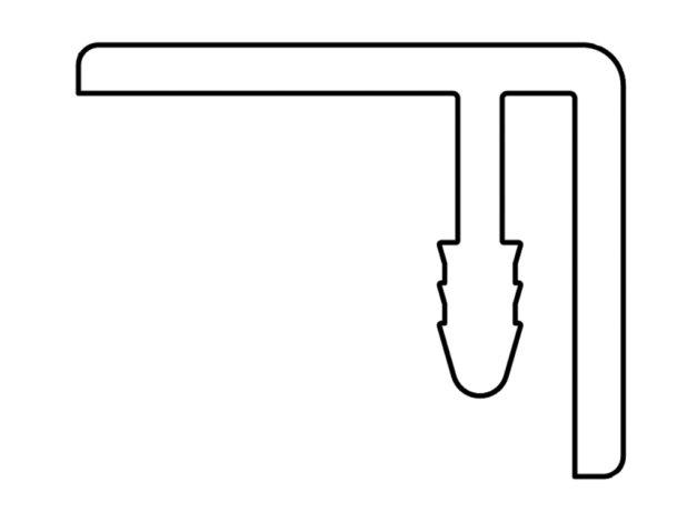 Gevelit • eindprofiel • kunststof • 4 meter
