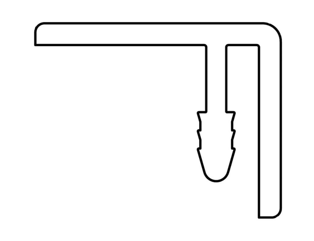 Gevelit PVC eindprofiel