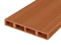 Composiet deurplank bruin achterkant