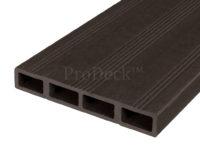 Composiet deurplank donkerbruin achterkant