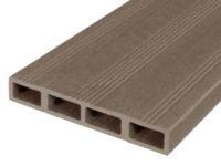 Composiet deurplank vergrijsd bruin achterkant