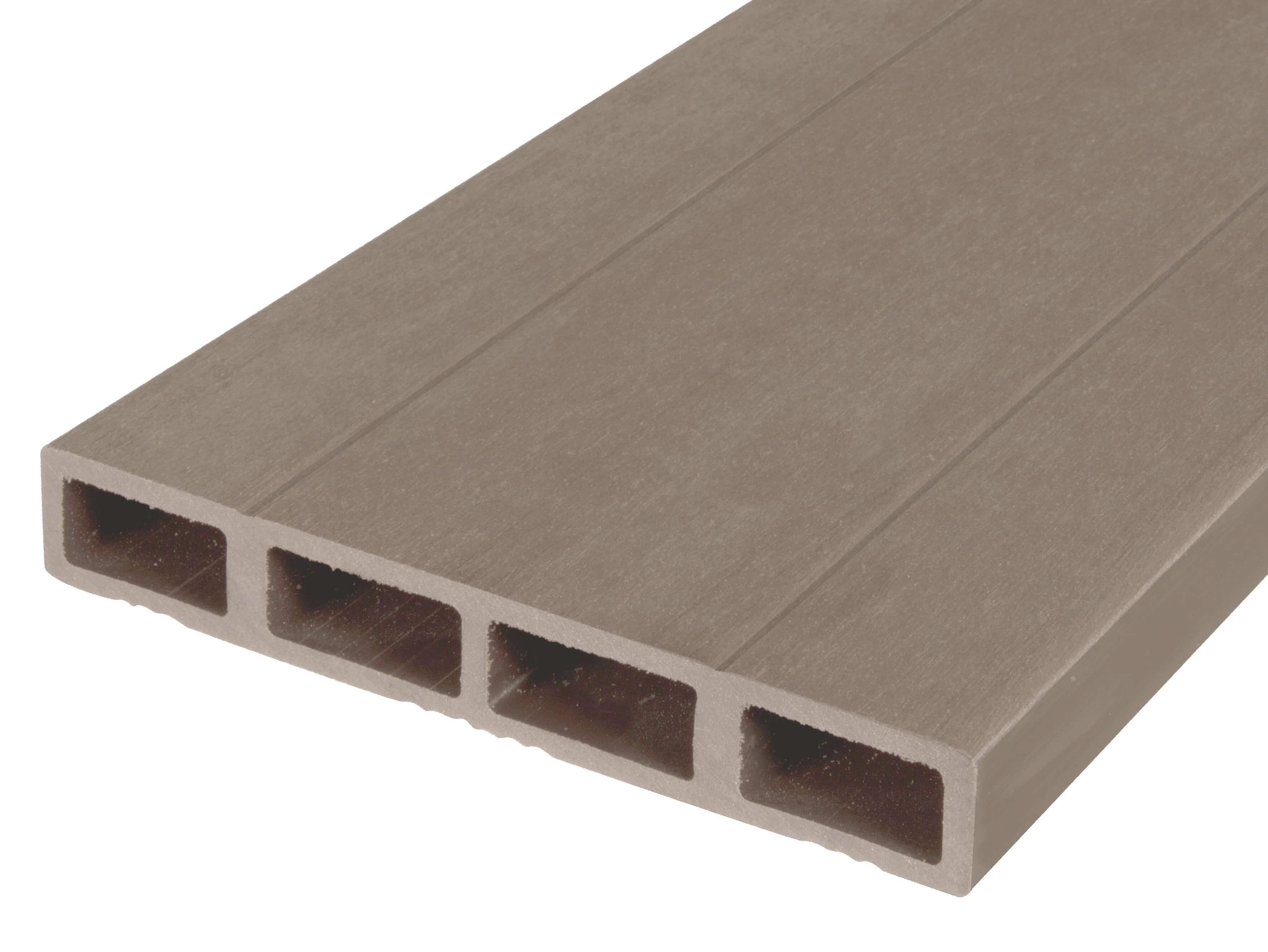 Composiet deurplank vergrijsd bruin
