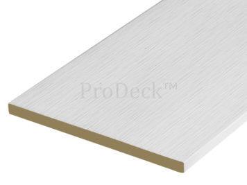 Schuttingplank • composiet • helder wit gelamineerd • 400 cm