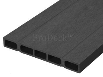 Schuttingplank • composiet • antraciet • zelfbouw • 400x20x2,5 cm