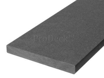 Plank • massief composiet • antraciet • 225x14x1,6 cm