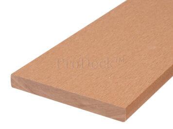 Plank • massief composiet • bruin • 225x14x1,6 cm