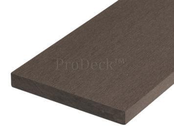 Plank • massief composiet • koffiebruin • 225x14x1,6 cm