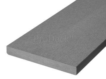 Plank • massief composiet • steengrijs • 225x14x1,6 cm