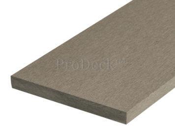 Plank • massief composiet • vergrijsd bruin • 225x14x1,6 cm