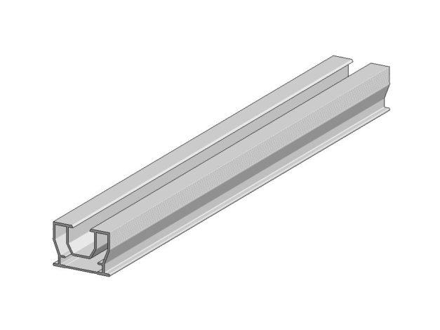 Onderbalk • aluminium • Aslon® • 400×3,5×2,5 cm