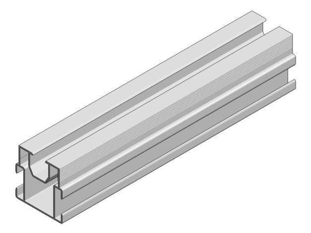 Onderbalk • aluminium • Aslon® • 400x4x4 cm