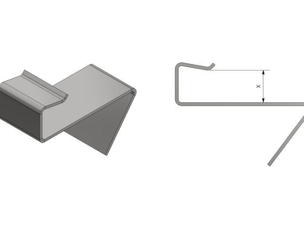 Start- of eindclip • voor Aslon aluminium onderbalksysteem