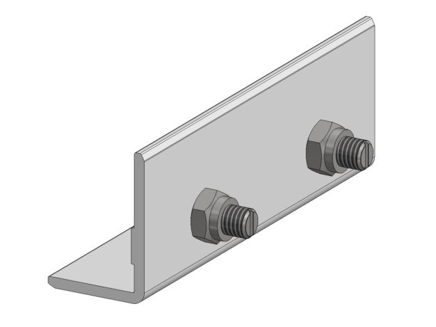 Koppelstuk • voor Aslon® aluminium onderbalk 4 x 4 cm