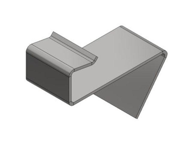 Start- of eindclip • voor Aslon® aluminium onderbalksysteem