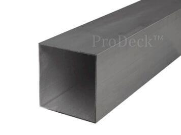 Schuttingpaal • aluminium • antraciet gecoat • 300x10x10 cm