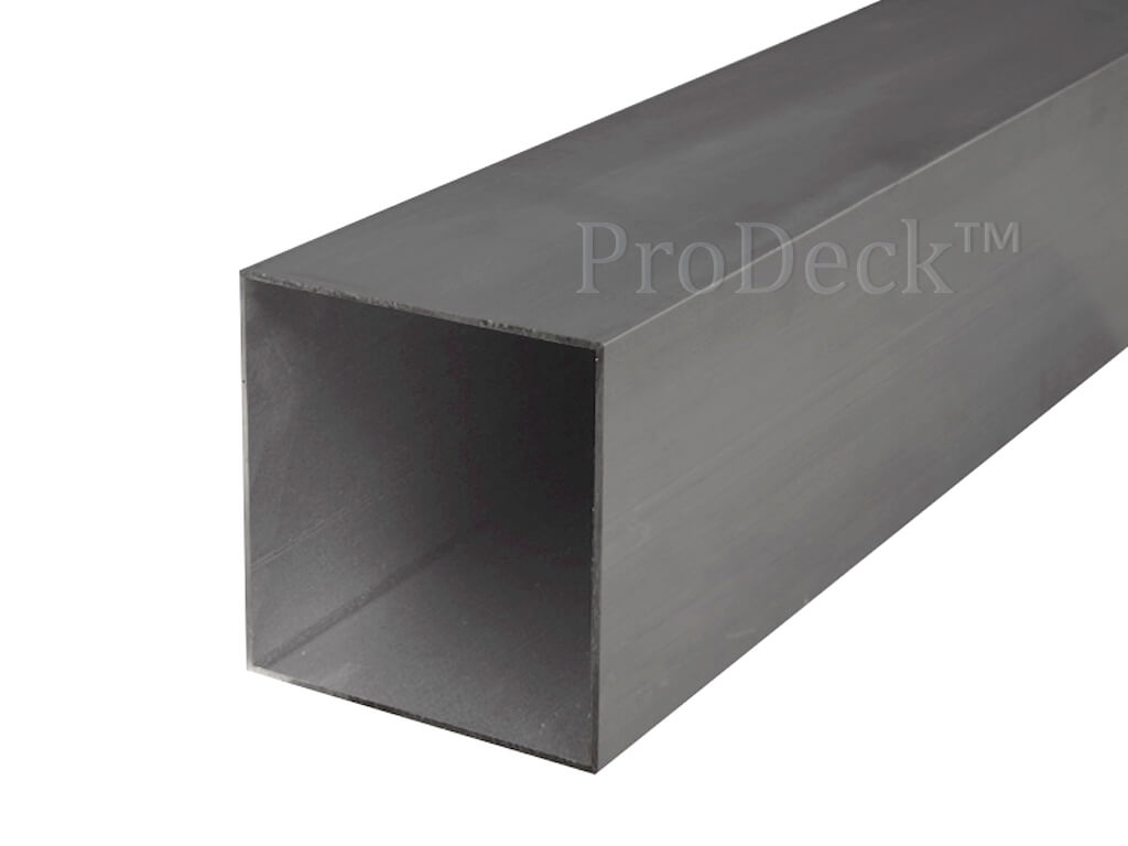 Schuttingpaal aluminium antraciet 10x10