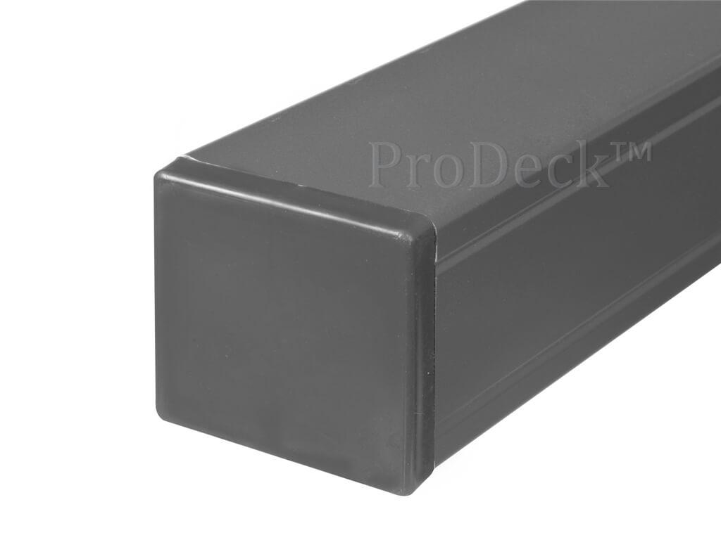 Schuttingpaal aluminium antraciet met kap 7x7
