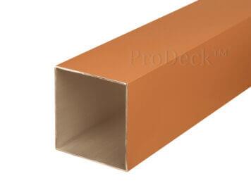 Schuttingpaal • aluminium • bruin gecoat • 270x10x10 cm