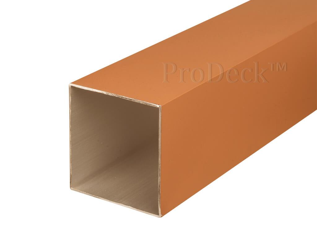 Schuttingpaal aluminium bruin 10x10