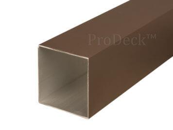Schuttingpaal • aluminium • koffiebruin gecoat • 270x10x10 cm