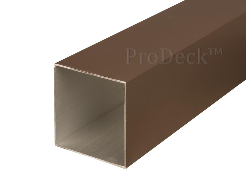 Schuttingpaal aluminium donkerbruin 10x10
